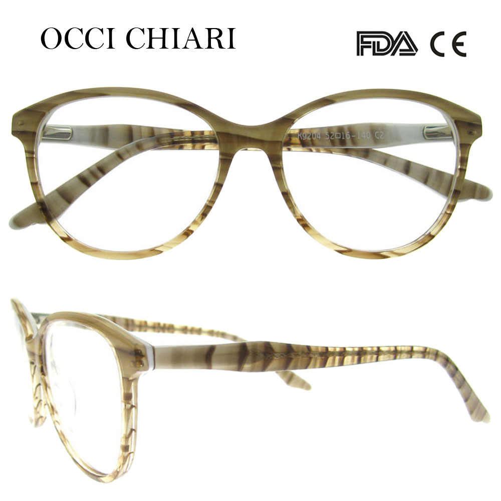 f2f42046983 OCCI CHIARI 2018 New Vintage High Quality Computer Anti-blue ray Women  Glasses Optical Frames