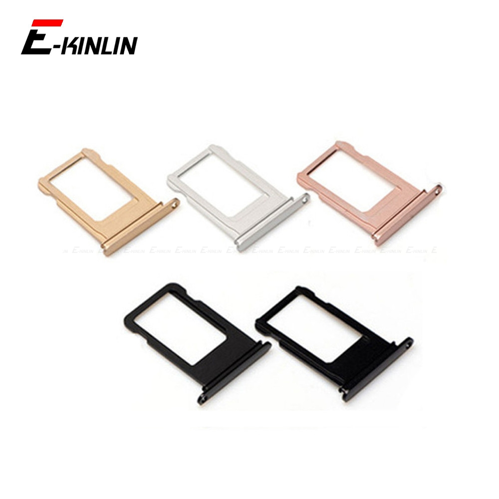 Sim Tray For IPhone 7 8 Plus Sim Card Slot Holder Adapter Replacement Parts