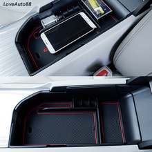 Central Armrest Storage Box Container Interior Stowing Tidying Accessories Car Styling For Toyota Camry 2017 2018 2019