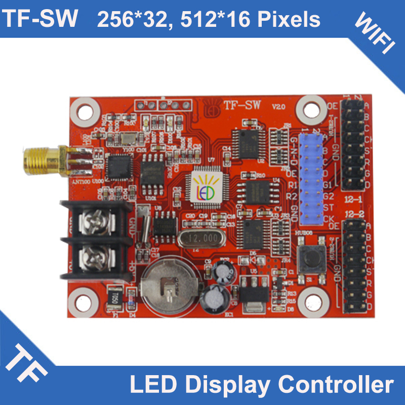 TF-SW Stop Production S6UW0 Instead Longgreat TF WIFI LED Display Control Card Single Dual Color
