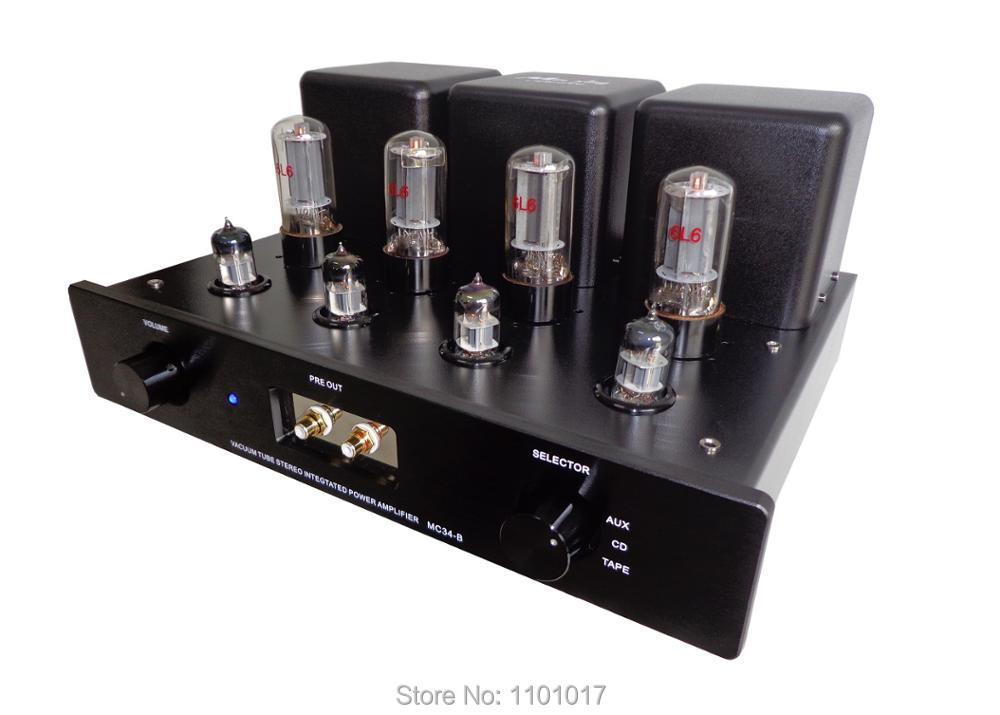 MeiXing MingDa MC34-B 6L6 Push-Pull Tube Amp HIFI EXQUIS vacuum lamp integrated Amplifier or pre-amp output mesa boogie 6l6 gc str 440 duet vacuum tube