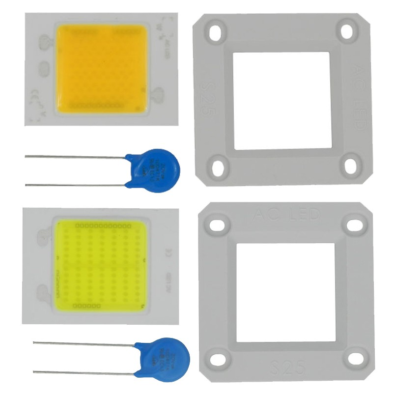 2pcs New COB integrated Driver Ceramic PCB chip 20W 30W 50W AC 110V 220V Driverless for led flood lights outdoor lamps dimmable lan mu 10 pcs led cob chip 50w 40w 30w 20w 10w ac 220v 110v no need driver smart ic bulb lamp for diy led floodlight spotlight