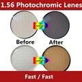 1.56 Фотохромные Lenes изменения от Чистого до Серого или Коричневого spectraute Tranation быстрой смены