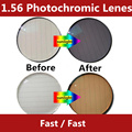 1.56 Photochromic Lenes  change from Clean to Gray or Brown  spectraute Tranation fast change