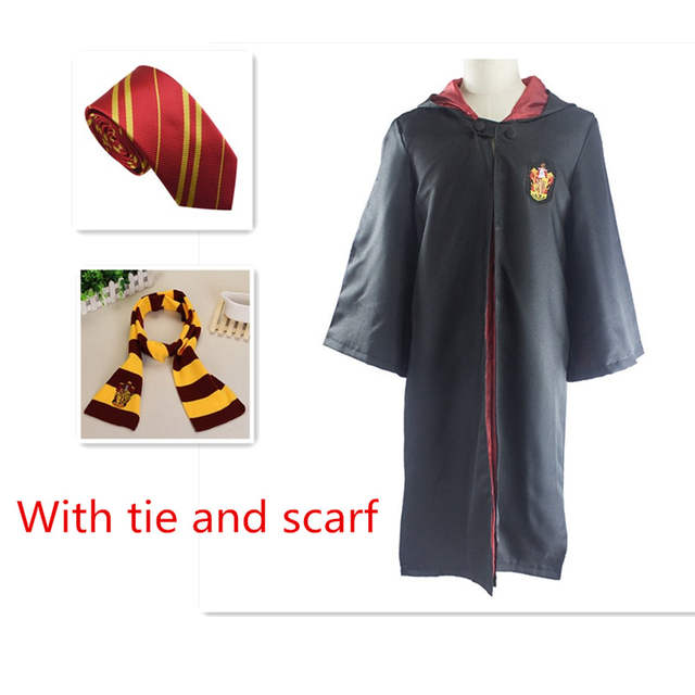 Costume Halloween Hermione.Halloween Cosplay Costume Potter Cloak Tie Scarf Hermione Gryffindor Ravenclaw Slytherin Hufflepuff Scarf Rope Tie For Adult