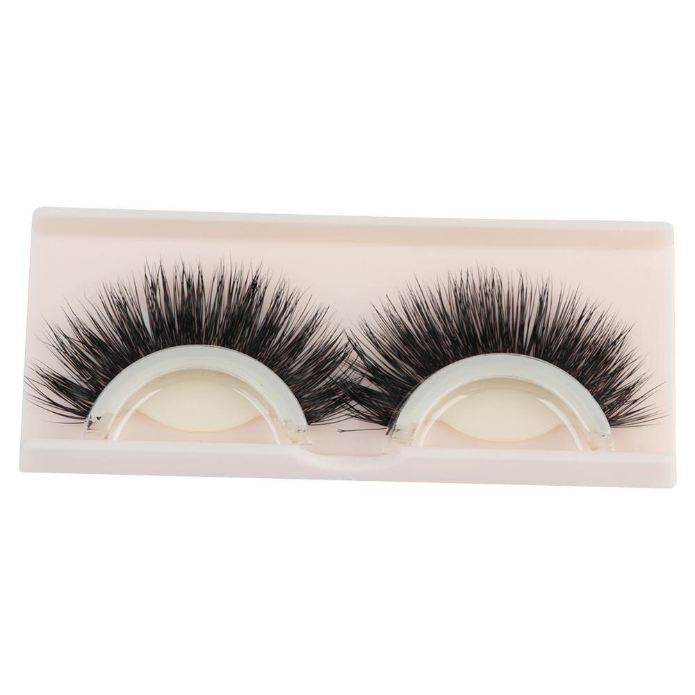 1 Pair Natural Mink Hair False Eyelashes Beauty Reusable Self-adhesive Eyelash Extension Tool Glue-banded Makeup Eye Lashes