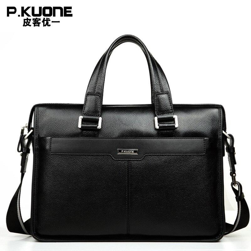 100% Garantieren Natürliche Kuh Leder Männer Handtaschen Marke Design Männer Schulter Messenger Taschen Laptop Tasche Aus Echtem Leder Aktentaschen