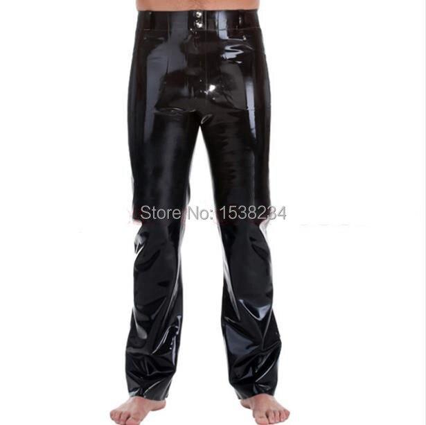 Caoutchouc Latex homme pantalons pantalons fétichistes Costumes avec poches grande taille XXXL approvisionnement sur mesure