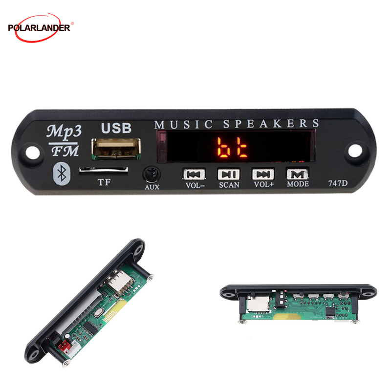 FM Radio Auto <font><b>Kit</b></font> <font><b>MP3</b></font> <font><b>Player</b></font> <font><b>Decoder</b></font> <font><b>Board</b></font> Bluetooth USB 3,5 Mm AUX TF Audio Empfänger 12V WMA Für lautsprecher Stereo image
