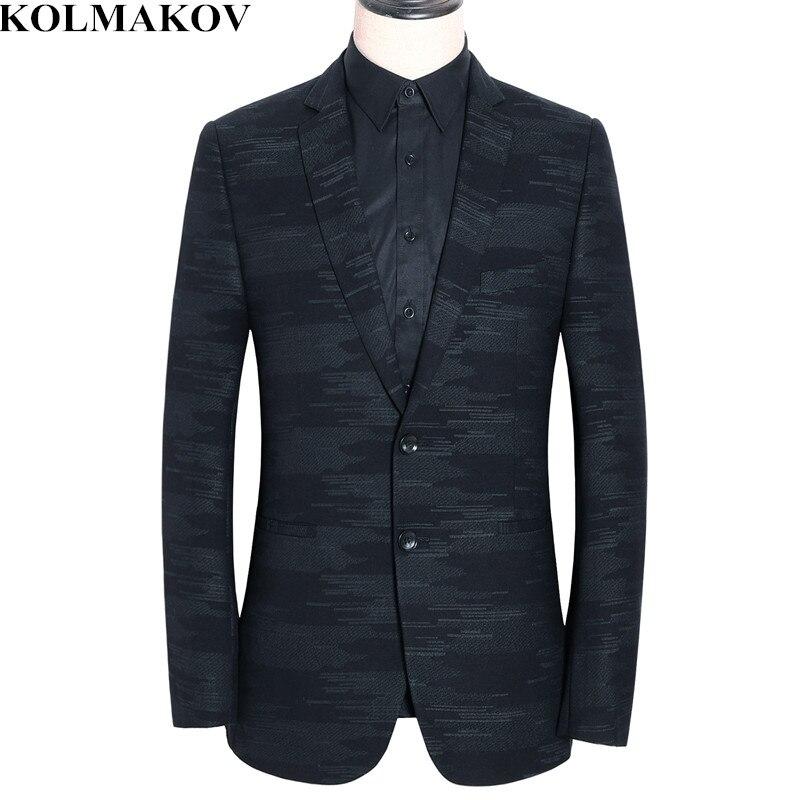 KOLMAKOV New Mens Blazers Spring High Quality Blazer Slim Men's coats Thin 2019 Business Casual Thin Suits Jackets for Men M 3XL
