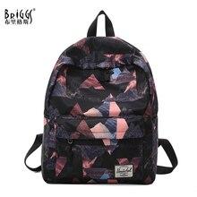 цены BRIGGS Fashion Nylon Backpacks Large Capacity School bags for Girls Teenagers Student Bags Travel Rucksack mochila