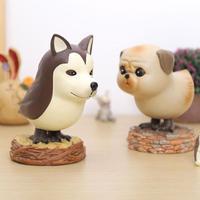 Creative Dog Bird Craft Gift Handcraft Desktop Decoraitive Artificial Resin Ornaments Animals Kids Dolls Present Home