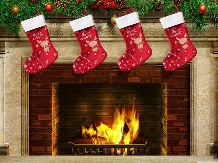 Popular Fireplace Christmas Stockings-Buy Cheap Fireplace ...