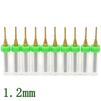 Titanium Coated PCB Milling Cutter 1 2mm 10pcs Computer Numerical Control Carbide Engraving Cutter CNC Router