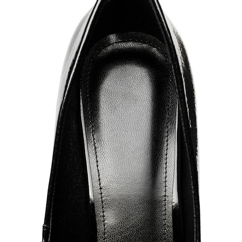 de14b71a910a93 Noir Femmes En Pleine 6 Chaussures Talon Noir or Véritable Éléphant Blanc  Bureau Cm Cuir Dames Haute 6d1wnSnq