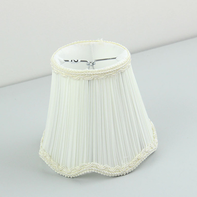 Us 6 5 Off White Lace Lamp Shade Wall Lampshade Glass Chandelier Lamp Shades Clip On In Lamp Covers Shades From Lights Lighting On