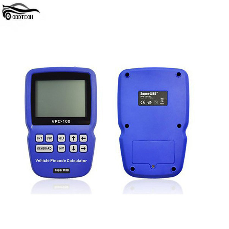 Super OBD VPC 100 Hand Held Vehicle PinCode Calculator with 300+200 Tokens VPC100 Pin Code Calculator Auto Key Programmer