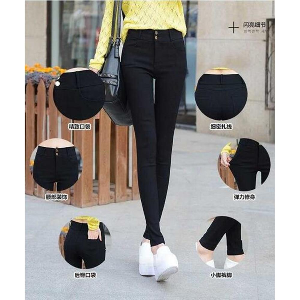 2019 mode vrouwen slank strakke elastische potlood broek / mevrouw - Dameskleding - Foto 4