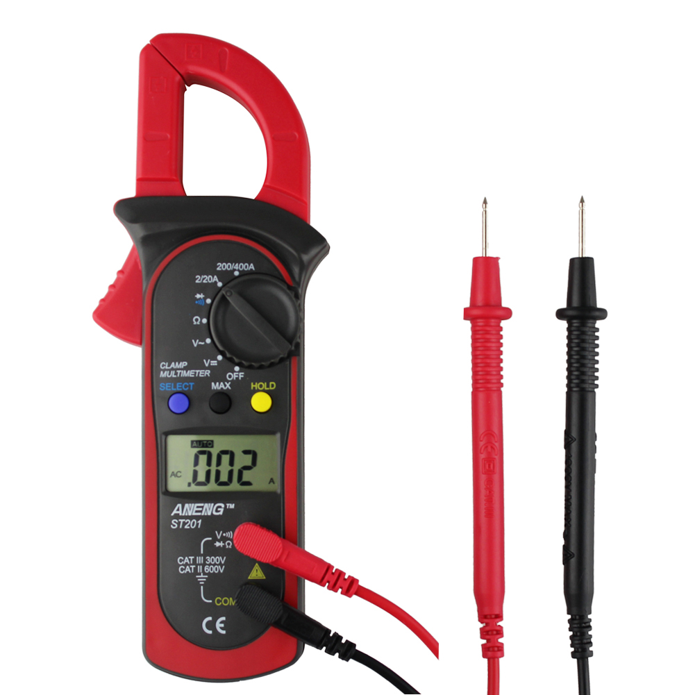 ST-201 Digital Auto Range Clamp Meter AC DC Current Voltage Capacitance Measuring Tools Digital Clamp Multimeter