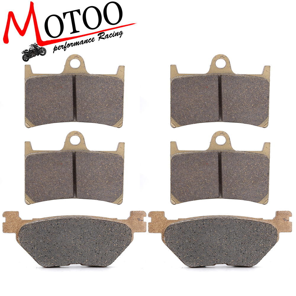 Motoo - Motorcycle Front and Rear Brake Pads For YAMAHA FJR1300 2001-2005 motorcycle front and rear brake pads for yamaha fzr 400 fzr400 rrsp rr 1991 1992 brake disc pad