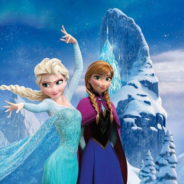 10x10ft Queen Elsa Anna Princess Snow Mountain Ice Crystal