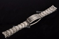 20mm Strap High Quality Solid Stainless Steel Watch Band Curved End Adjustable Deployment Clasp Buckle For