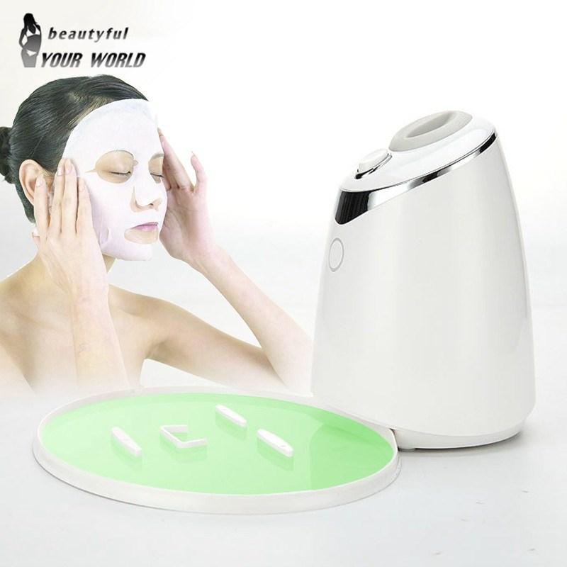 цена Fruit Face Mask Maker Machine Automatic DIY Natural Vegetable Facial Skin Care Tool With Collagen Beauty Salon SPA Equipment