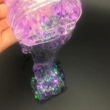 60 ML Slime Crystal Lumpur Anti-Stres Anak-anak Mainan Berbulu Lendir Jelas Glitter Slime Floam Beads Slime Gadget Hadiah Licin oyuncak