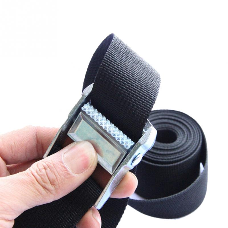 New 1M/2M/3M/4M Nylon Pack Cam Tie Down Strap Lash Luggage Bag Belt Metal Buckle Outdoor Practical Luggage Packing Tools