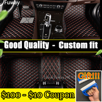 EMS Custom fit car floor mats for Ford Edge Escape Kuga Explorer Fiesta Focus Fusion Mondeo Ecosport car styling carpet liner