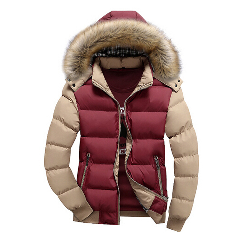 Image 4 - Mountainskin Men's Winter Jackets Thick Hooded Fur Collar Parka Men Coats Casual Padded Mens Jackets Male Clothing 6XL 7XL SA748-in Parkas from Men's Clothing