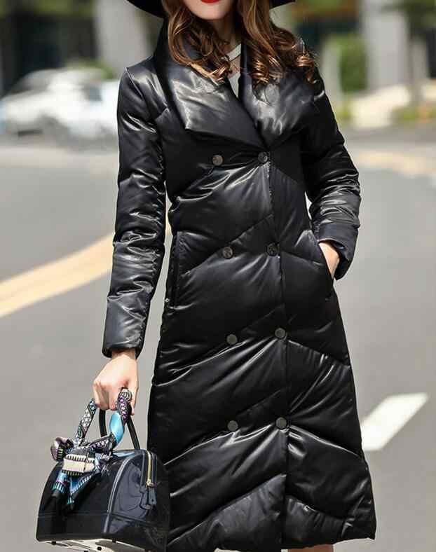 大襟の冬の女性ダウンコート厚い暖かい冬ダウンコートロング 90% ダウンジャケットの女性のコート