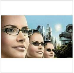 spectacles lenses1 553HMC 1 56 HMC coating photochromic lens grey color brown color optical lenses Free