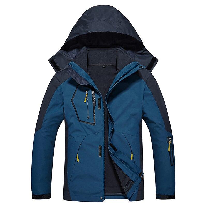 CCIVICFREE Waterproof Men's Hiking Jacket Men Outdoor Sports Coat Camping Trekking Windbreaker Plus Size Winter Ski Jackets