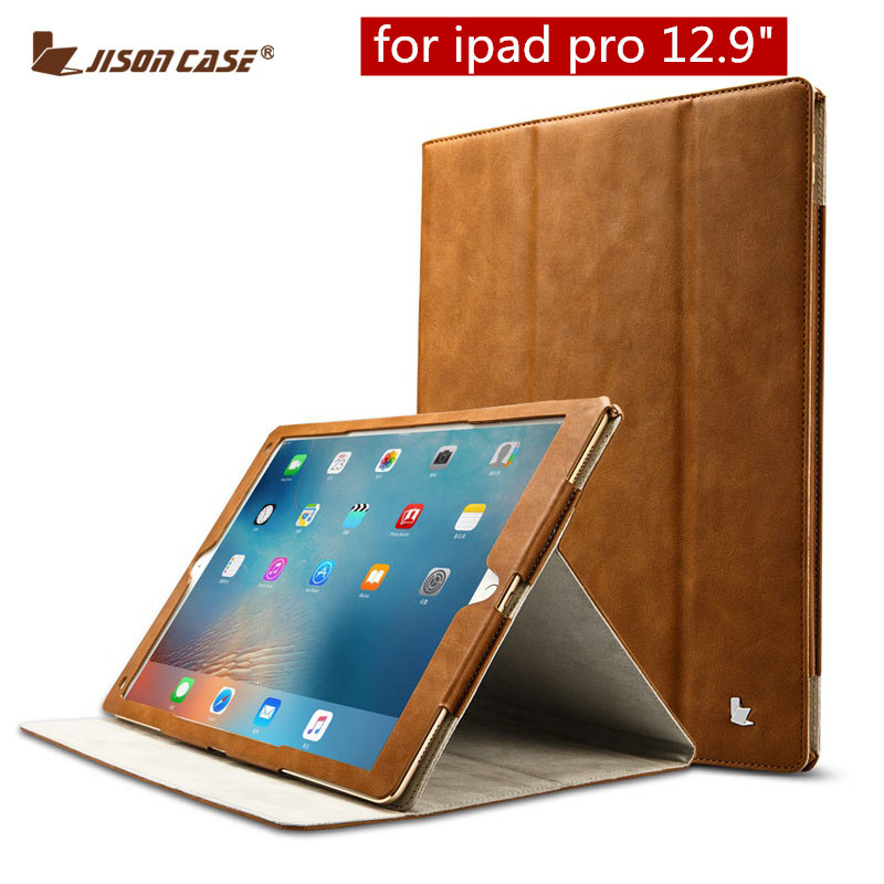 Jisoncase PU Leather for iPad Pro 12.9 Case Smart Cover Luxury Stand Protective Case Cover For iPad Pro 12.9 inch 2015 Auto Wake jisoncase generic for ipad pro 12 9 2017 case pu leather luxury tablet smart cover 2015 slim auto wake funda