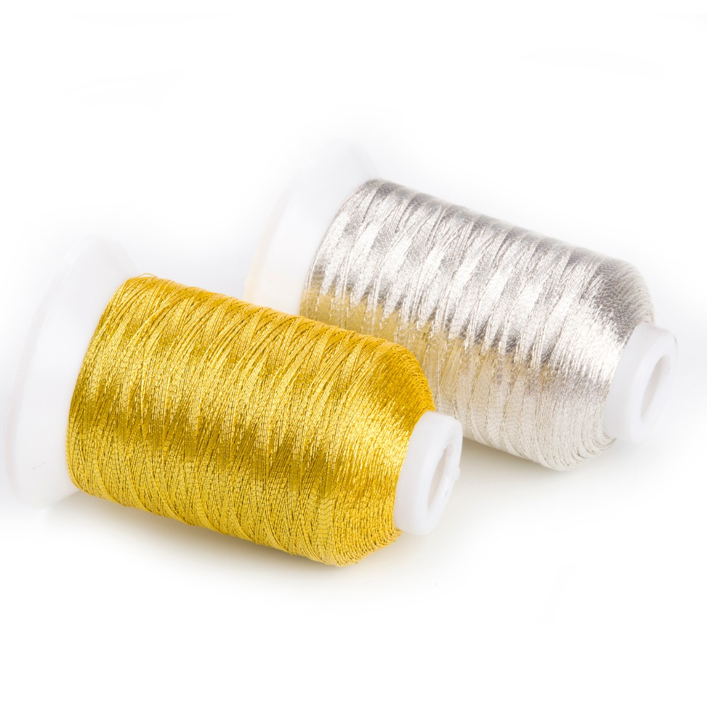 20m Colour SILVER GOLDEN 3 10 Metallic Hand Embroidery Thread Madeira Perle No
