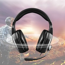 цена на Universal Stereo Gaming Headset Game Headphone helmet 3.5mm Wired with Mic Volume Control Sound Noise Cancelling