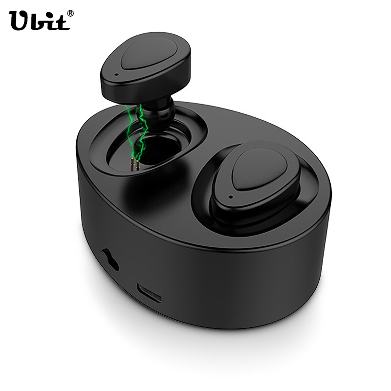 Ubit K2 In-Ear Wireless Bluetooth Earphone with Portable Charger Earbuds, Smallest Cordless Hands-free Mini Earphones Headset mini car charger usb interface wireless bluetooth earphone headset 2 in 1 fast car phone charger cx88