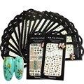 Nuevos Diseños 1 Hojas Del Clavo 3d Art Sticker Belleza Ojos/Collar/de La Pluma Del Brillo del Oro Verde Adhesivo Consejos de Uñas accesorio MD401-420G