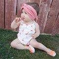 Novo Design Do Bebê Recém-nascido Meninas Infantis Macacão Verão Bodysuit Bonito Swan Imprimir Sem Mangas Halter Bodysuits Outfits