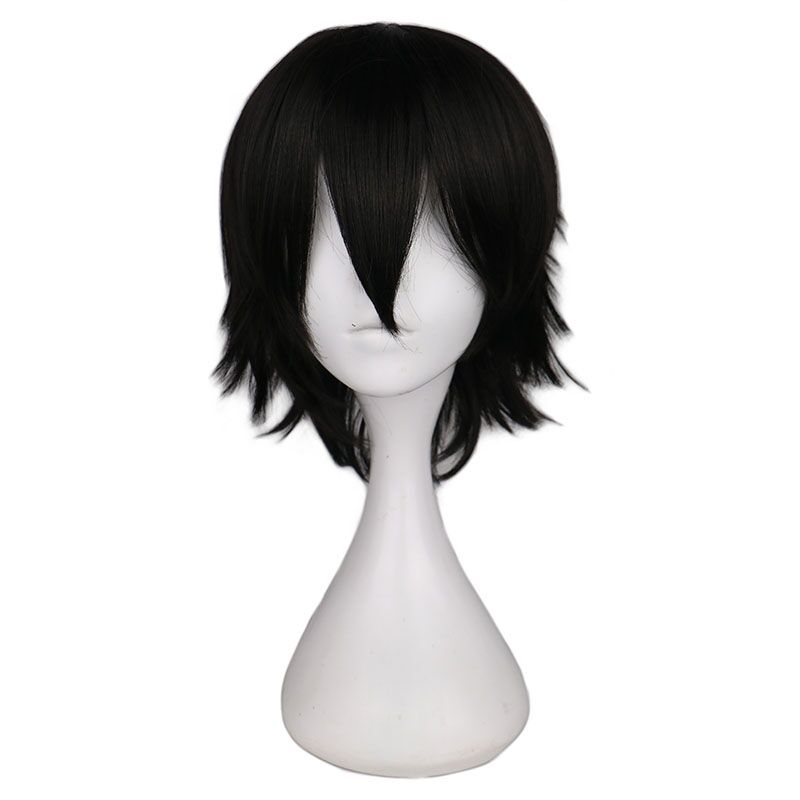 Obliging Qqxcaiw Short Straight Cosplay Wig Men Male Black High 100% Temperature Fiber Synthetic Hair Wigs Hair Extensions & Wigs