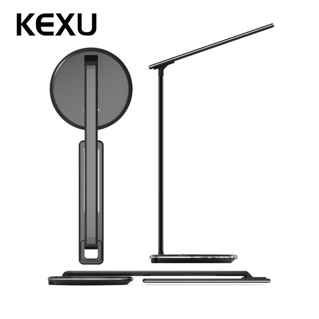 US $28 99 30% OFF|KEXU Fast Wireless Chargers Charger Table Desk LED Lamp  for Samsung S8/S9 iPhone X 8 Multifunction Protection Eye Desktop Light-in