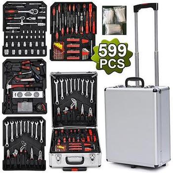 599pcs Hand Tools Set Professional Socket Wrench Tool Set Auto Repair Combination Package Hand Tools Storage Casetic Toolbox S
