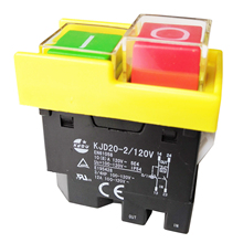 KEDU KJD20-2/120V 4Pin 10(8)A 3/4HP  Electromagnetic Power On Off Pushbutton Switches Industrial Waterproof Push Button Switch