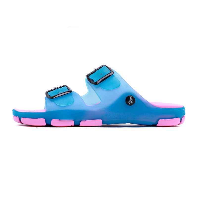 LAISUMK klapki na lato kobiet oddychające buty plażowe Casual Slip-on mieszkania druk kwiat slajdy moda wygodne damskie
