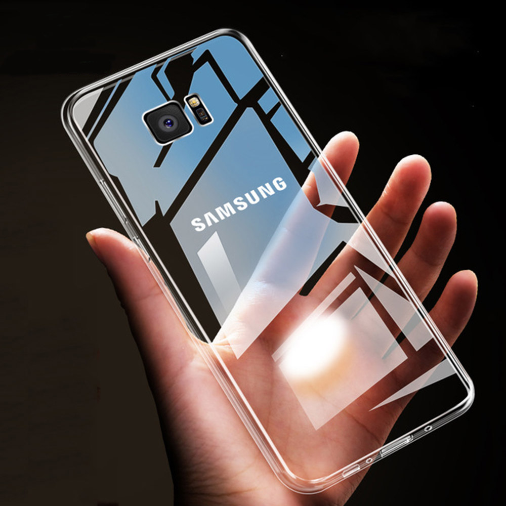 Back Case For Samsung Galaxy S9 S8 Plus A8 A6 Plus 2018 HD Clear Soft TPU  Phone Cases For Samsung A5