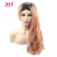 Deyngs Synthetic Lace Front Wigs For Black Women Loose Deep Natural Heat Resistant Guleless Party Lace Wigs Ombre Orange Color