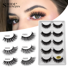 SHIDISHANGPIN 5 pairs mink eyelashes hand made makeup 3d mink lashes natural fal
