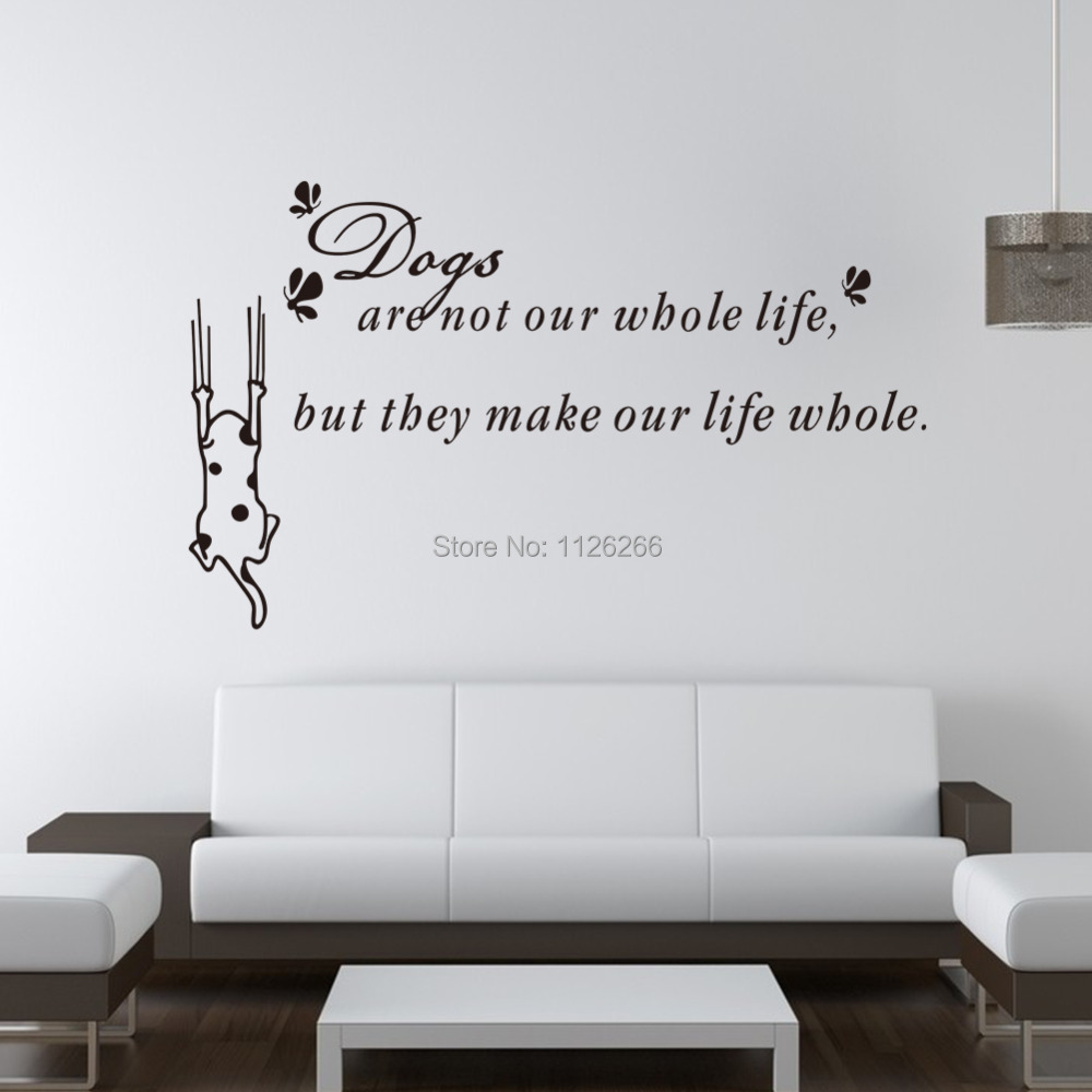 Decoration Wall Sticker Cartoon Dog Vinyl Wall Art Decals Quotes Life  Philosophy In Wall Stickers From Home U0026 Garden On Aliexpress.com | Alibaba  Group