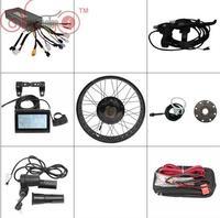 Ebike Kit 36V 1200W/48V 1500W Fat Tire 20 26Electric Bike Rear Wheel Conversion Kits Wheel Controller LCD Brake Levers Throttle